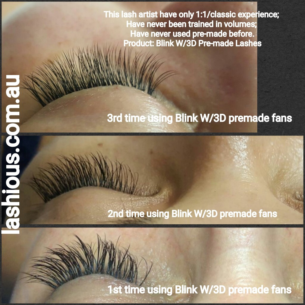 Blink 3D Lashes. Easy to use premade 3D fans