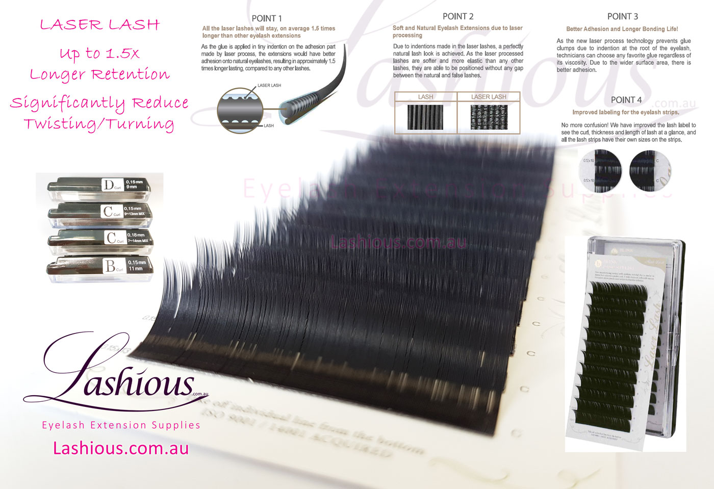 Laser Lash Silk Eyelash Extension Lashes Lashious