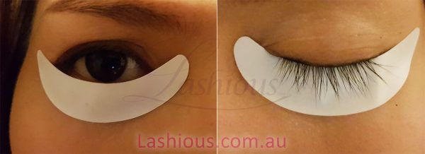 Gel-free soft patch for eyelash extension