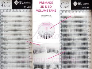 Pre-made Volume Fan Lashes - 3D & 5D Volume fans